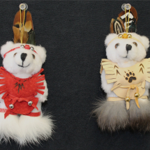 #30009 native bear ornament