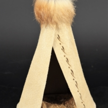 Authentic Leather Large Teepee w/fur