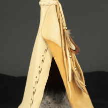 Authentic leather large teepee