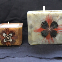Authentic Stone Candle Holders with Candle