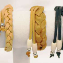 Authentic Deerskin Mystery Weave Bracelets